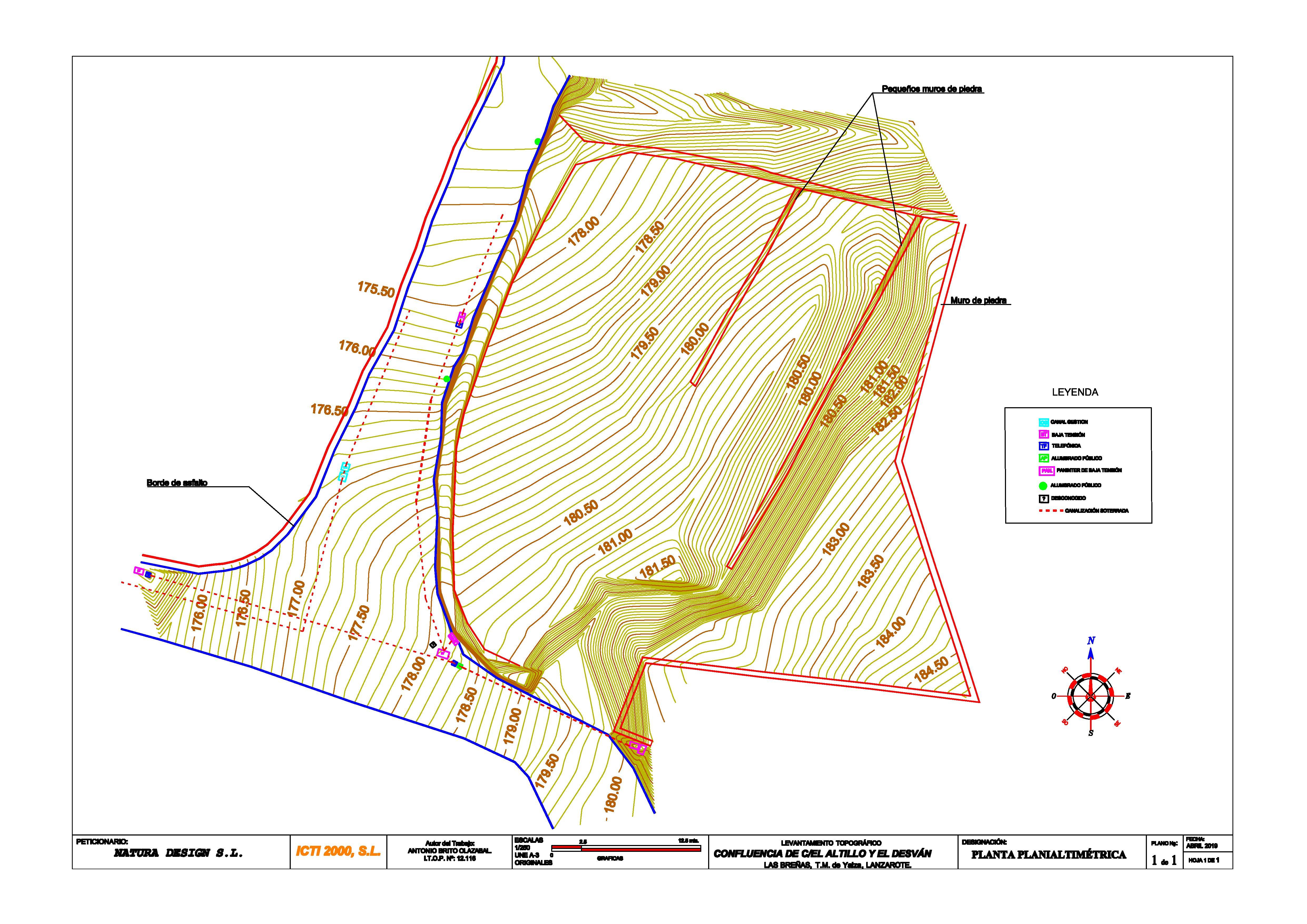 Plans EA 1905 Levantamiento planialtimétrio