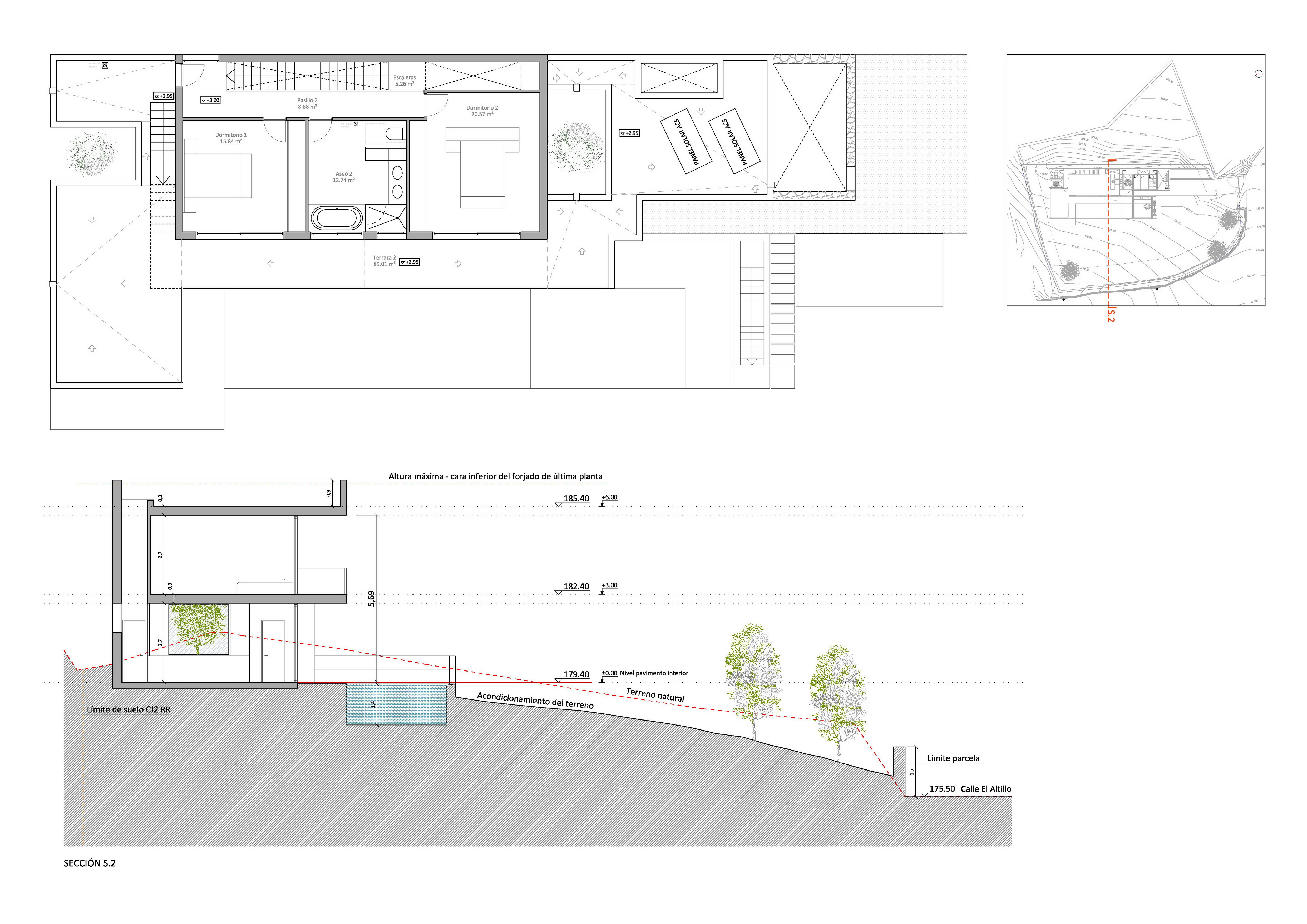 Plans EA 1909 3 ground floor section s2