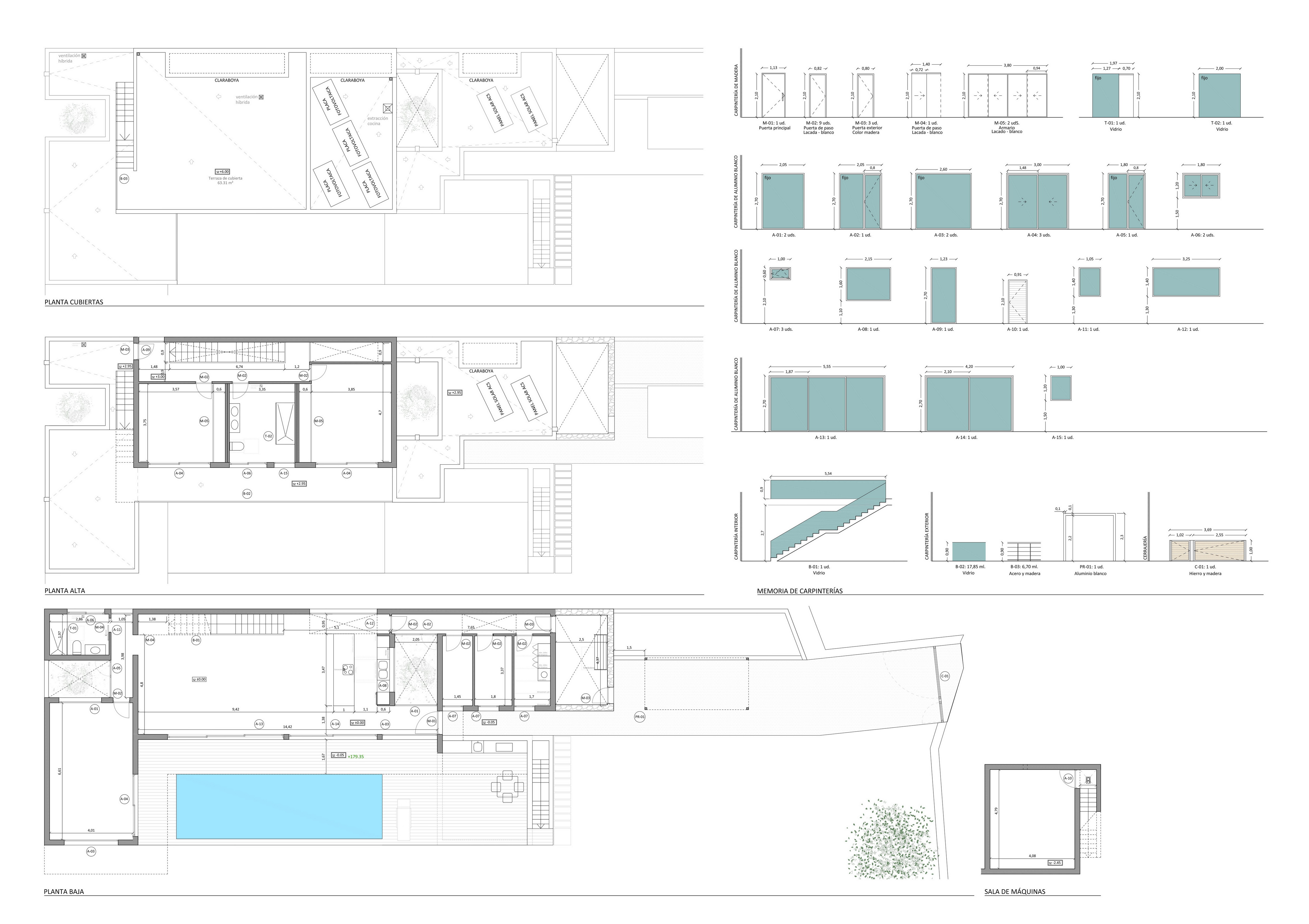 Plans EA 1910 4 Cotas Mem carpinterías